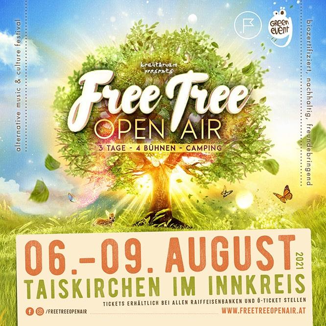 Werbebanner für das FreeTree Festival