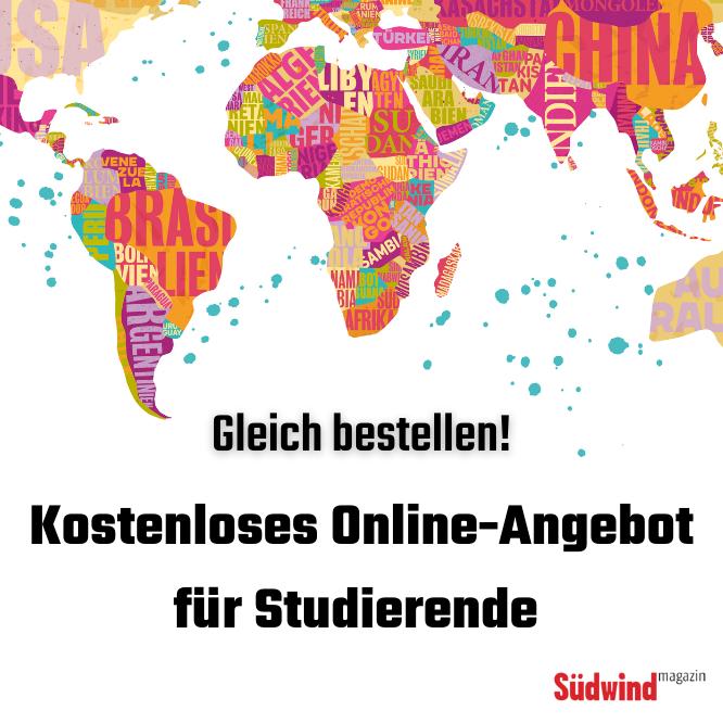 Werbebanner: Südwind-Magazin Angebot für Studierende